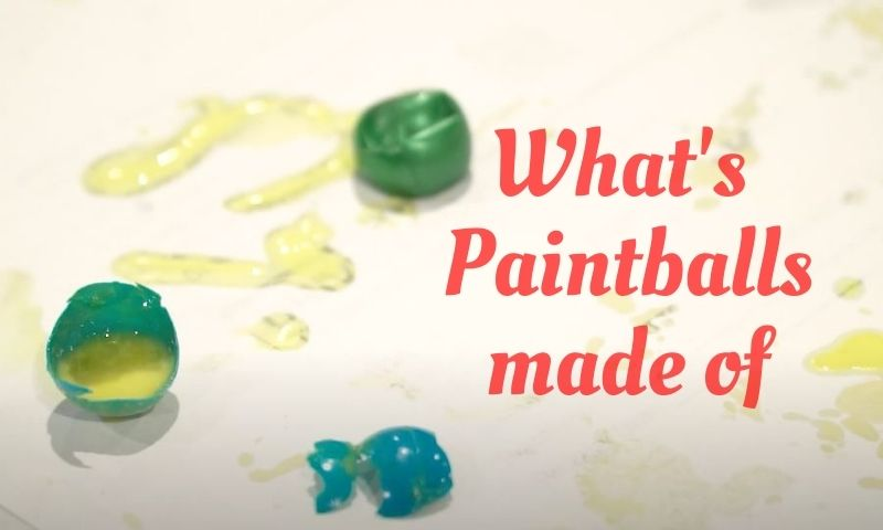 What are paintballs made of